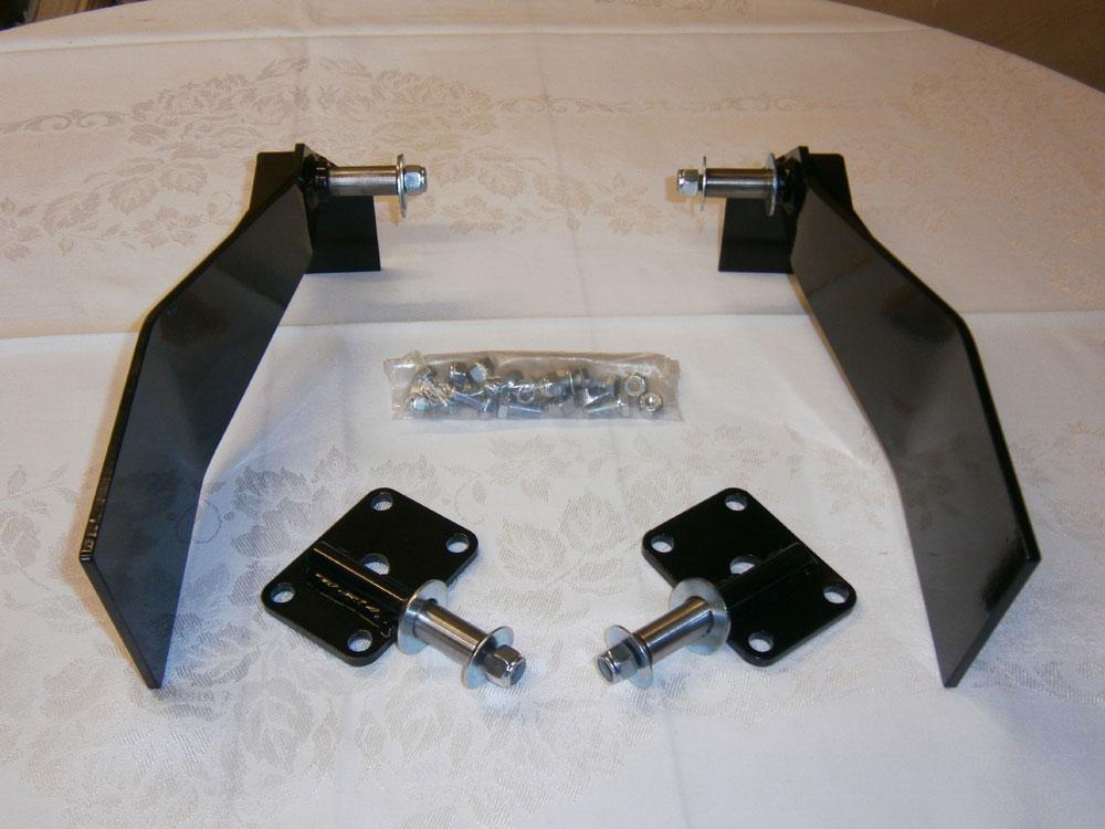 "Rear Telescopic Shock Absorber Bolt-On Bracket Conversion Kit 4 Seater (R0030) Comprising: Bolt-On Side Brackets, ""U"" Bolt Plates and Fastenings"