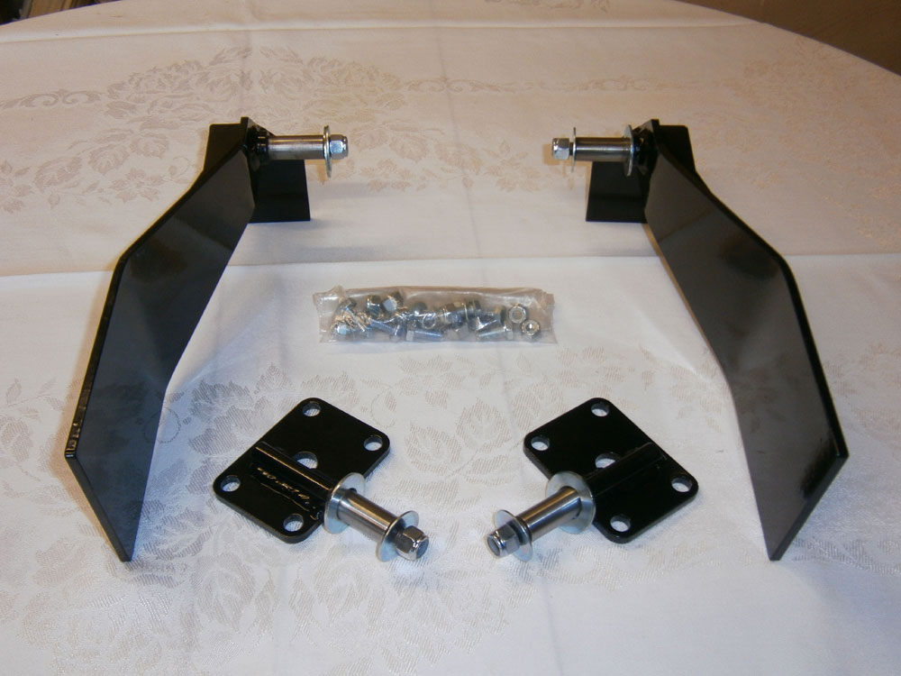 "Rear Telescopic Shock Absorber Bolt-On Bracket Conversion Kit 4 Seater (R0030) Comprising: Bolt-On Side Brackets, ""U"" Bolt Plates and Fastenings"